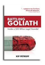 Suzi Zimmerman is proud to announce her husband's first book: Battling Goliath: Inside a $22 Billion Legal Scandal