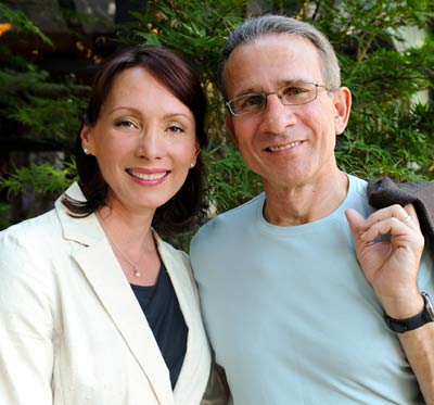 Suzi Zimmerman Petroff with her husband, Kip Petroff